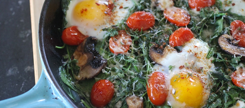 """The Nest"" Baked Spinach & Ricotta Eggs"